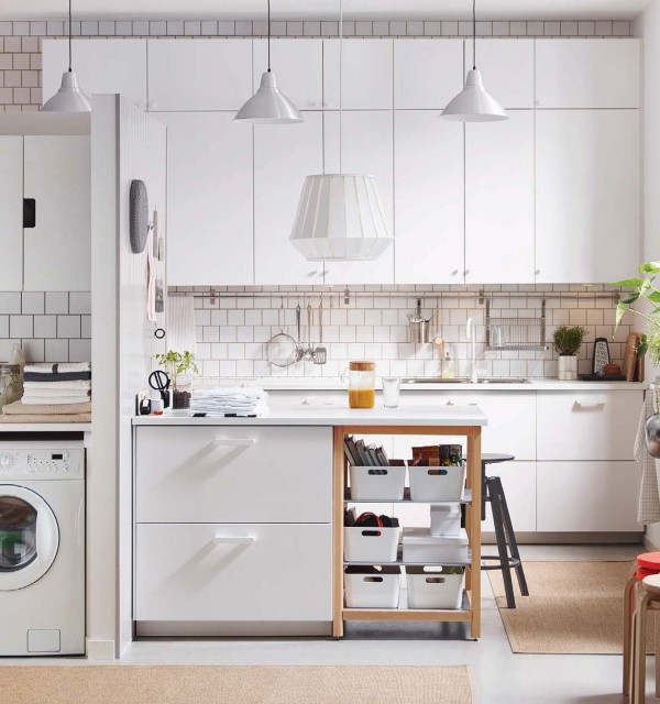 ... This Awesomely Quirky Kitchen With Its Bronze Racing Stripe Backsplash.  Thatu0027s Whatu0027s So Great About The Simplicity Of Much Of What Ikea Offers:  You Can ...