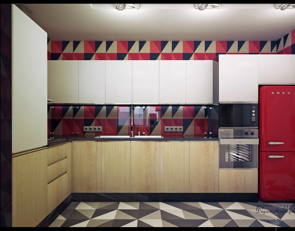 Wood Cabinetry Panels - 4 studios under 50 square meters that use playful patterns to good effect