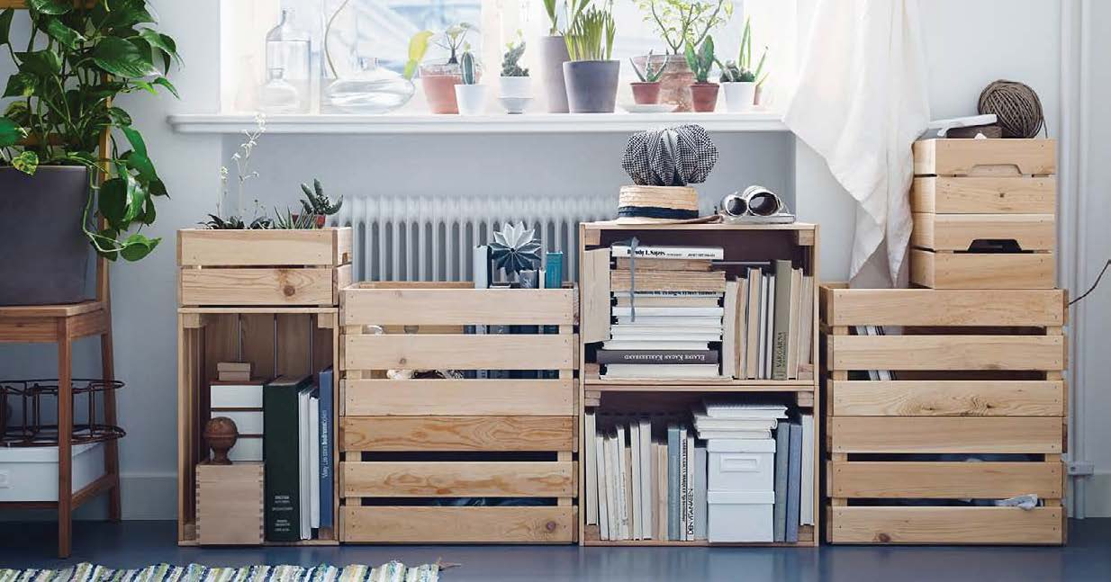 woodpalettestorage Interior Design Ideas