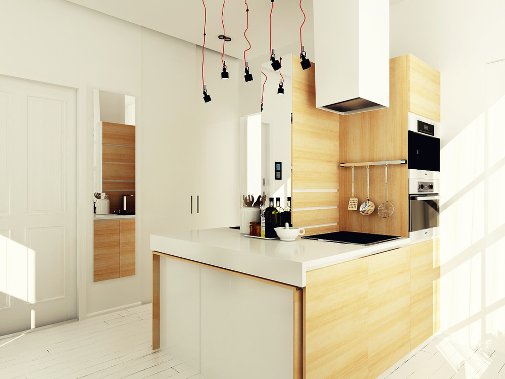 Ultra tiny home design 4 interiors under 40 square meters for Small square kitchen designs