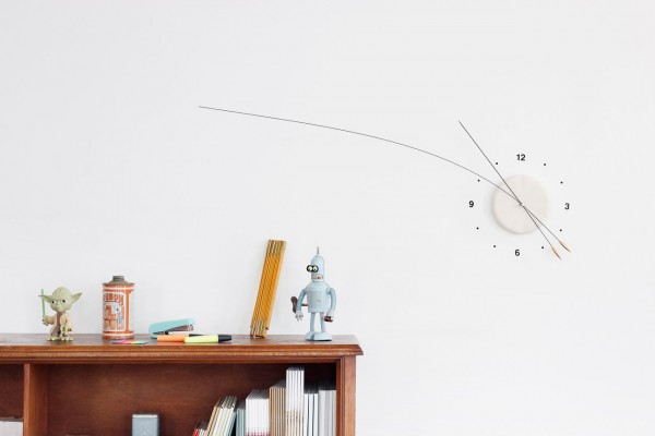 The long flexible hands of the Lithe Clock are not only unique but they will droop over time, giving a bit more flexibility in each moment.