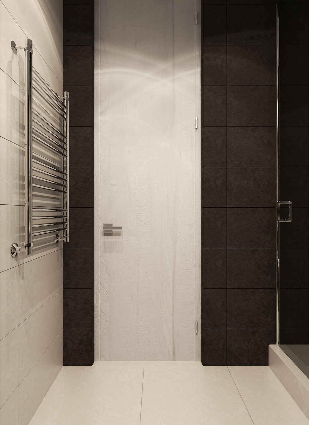 Bathroom Design - A contemporary apartment with lots of open space