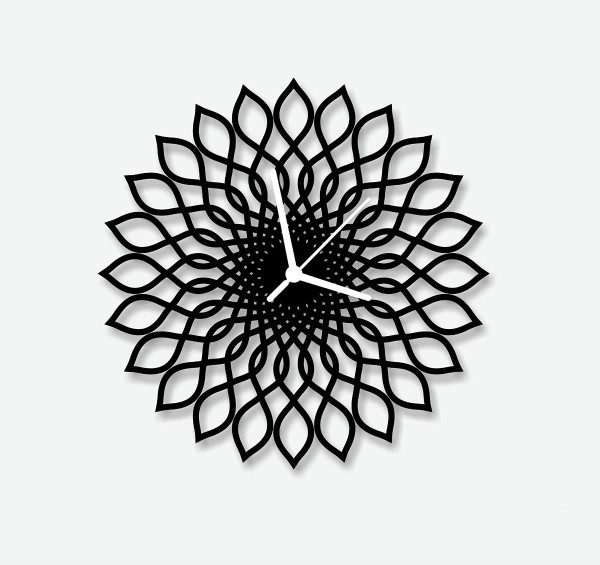 This Spirograph Clock is inspired by the ink and paper drawing tool of the same name.