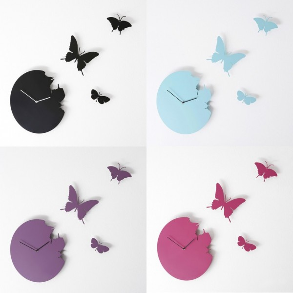 This Butterfly Clock makes us ask: What is time except the floating of a series of butterflies on a passing breeze?