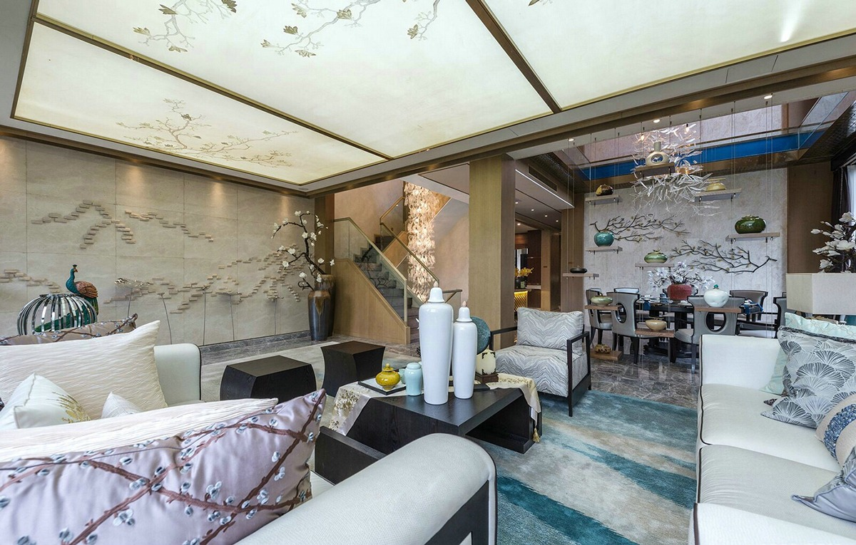 Cherry Blossom Interior - An opulent chinese mansion straight out of the 80s