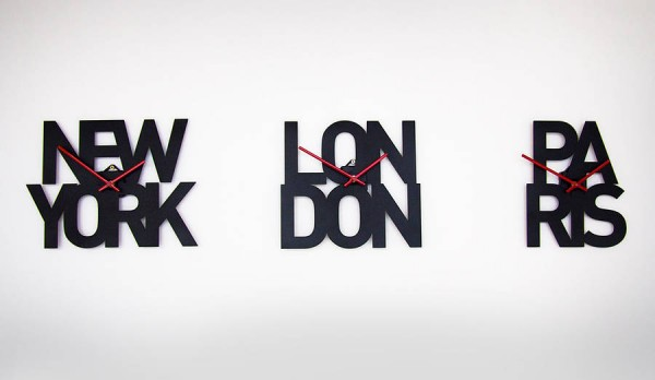 Display the love of your home - or home away from home - with one of these typographic city clocks.