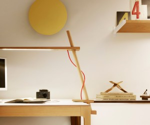 Winner of the Red Dot design award, this clamping lamp is made from North American Hardwood and powered by LED lights.