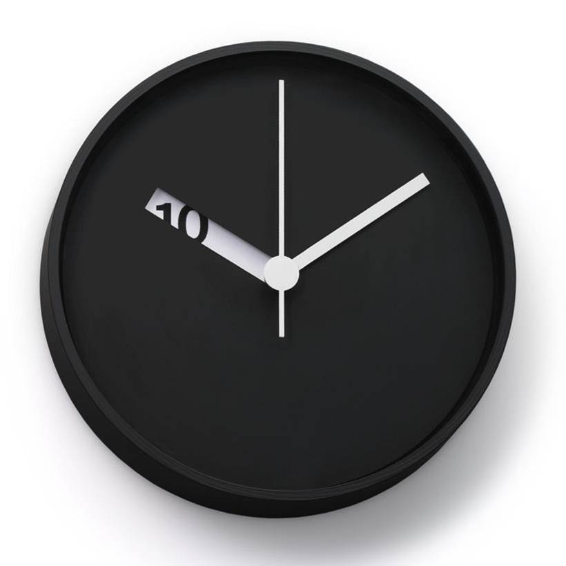 the extra normal wall clock has an extra clever design