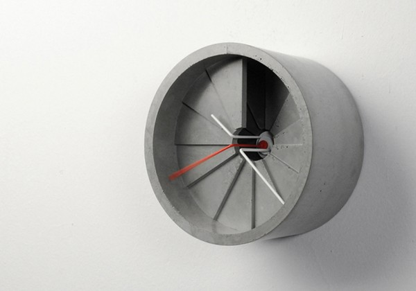 The 4th Dimension Concrete Wall Clock is literally made of cement and crafted to look like a spiral staircase, connecting space and time by way of the 4th dimension.
