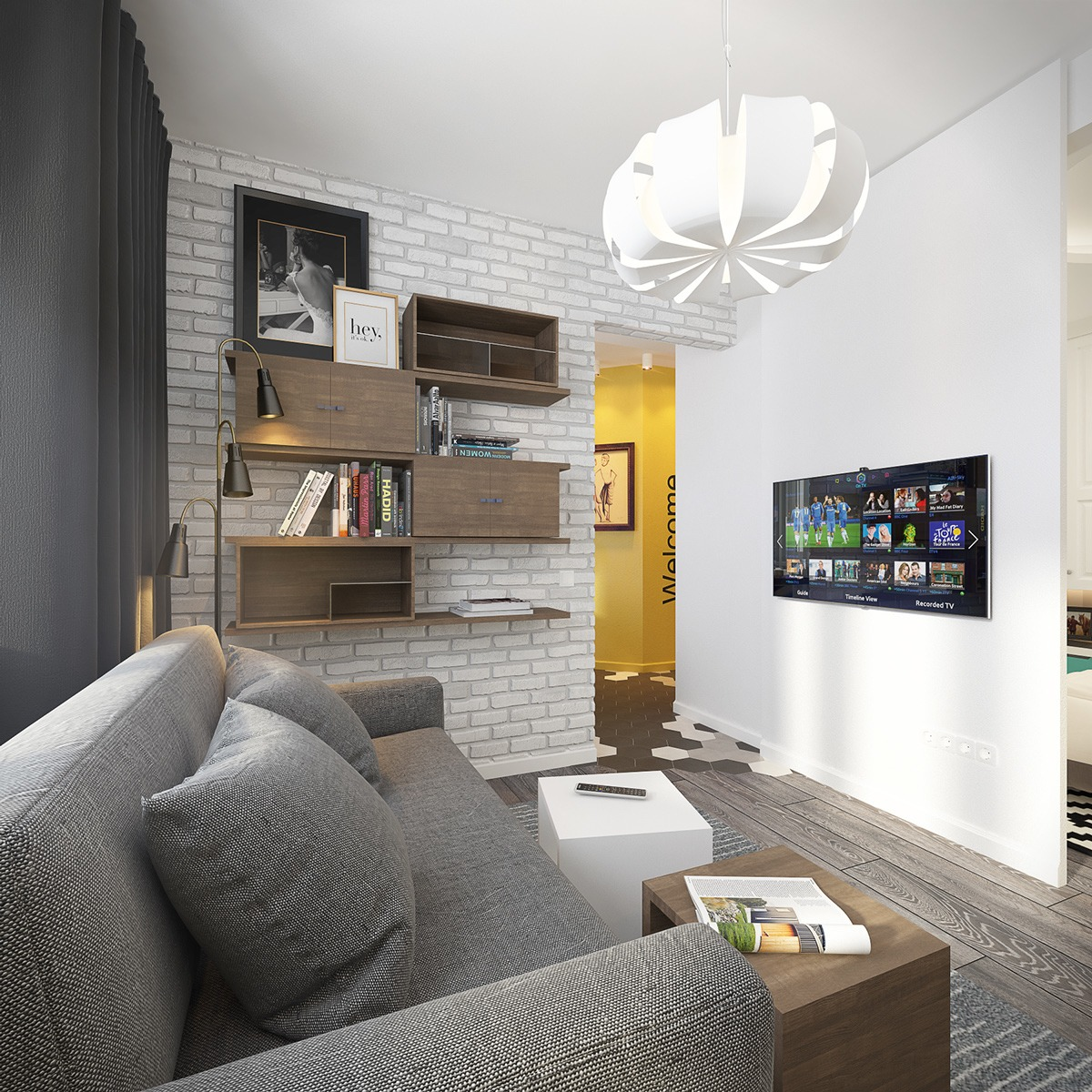 Design combined kitchen-living room of 18 square meters. m 50 photos