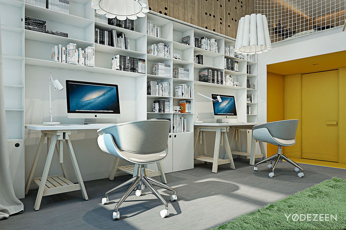 Creative Home Workspace - A kids friendly apartment design with lots of playful features