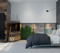 Not every part of the home is quite so dreary, however. Both the bedroom and a conversation nook by the large window in the main living area are rather bright. Though the tones stick to neutral, natural sunlight provides a bit of warmth and levity.
