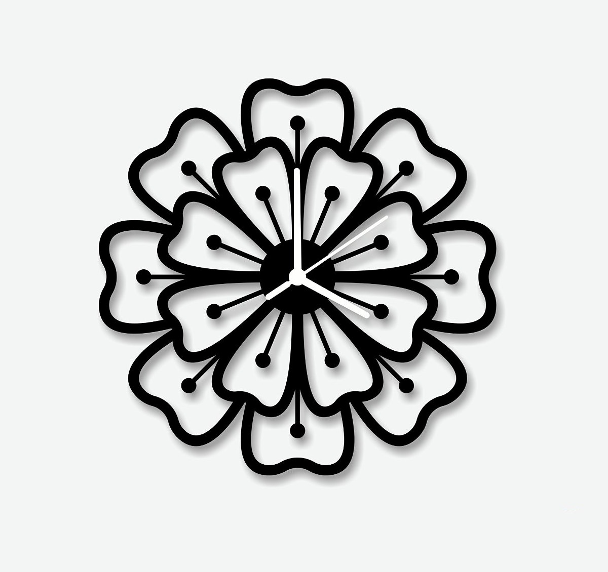 Spirograph flower modern wall clock will let your minimalist style