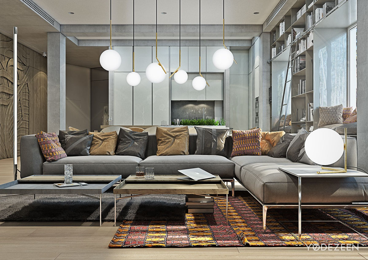 Globular Lighting - A kids friendly apartment design with lots of playful features