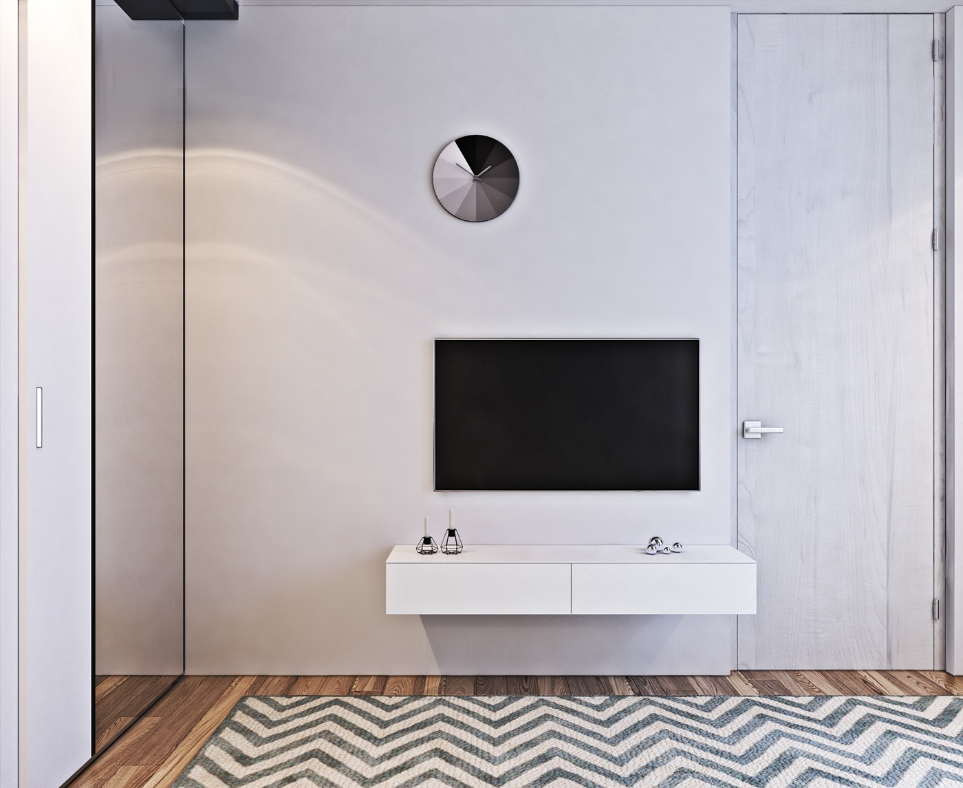 Gradient Clock - A contemporary apartment with lots of open space