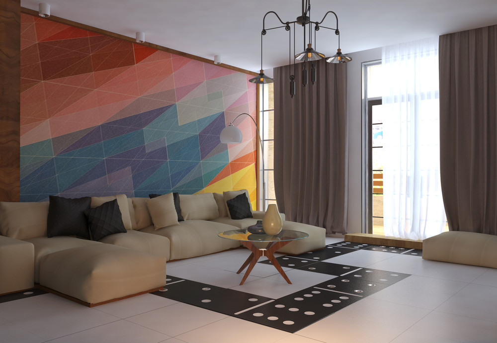 Huge Wall Art - 5 apartment designs under 500 square feet