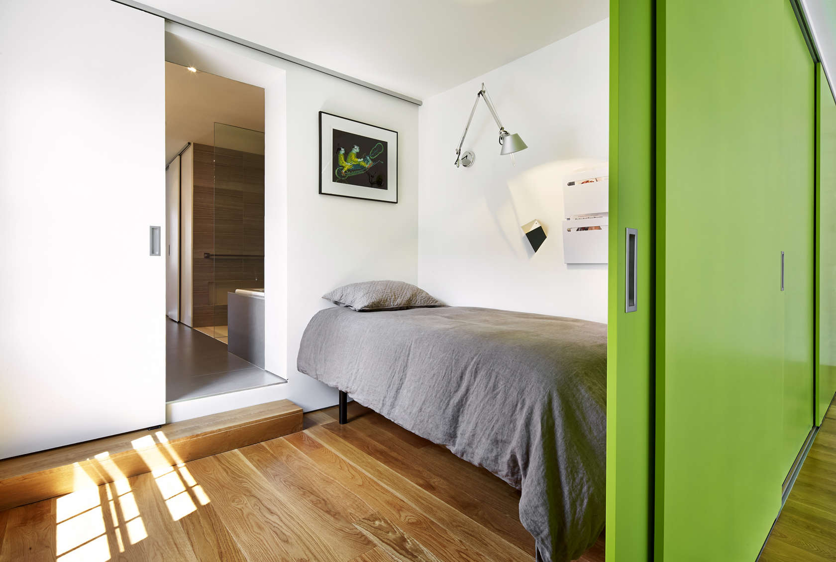Interior Sliding Door - A modern row house for a fun couple with a love of cooking