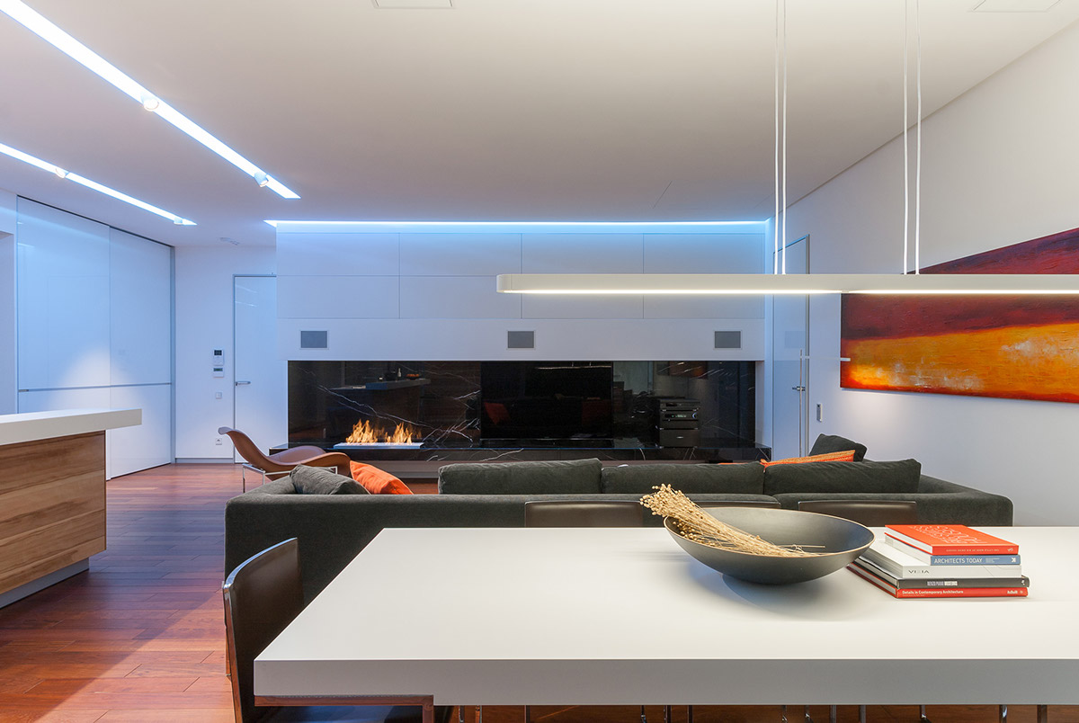 Kitchen Modern Island - A colorful modern space for a stylish couple