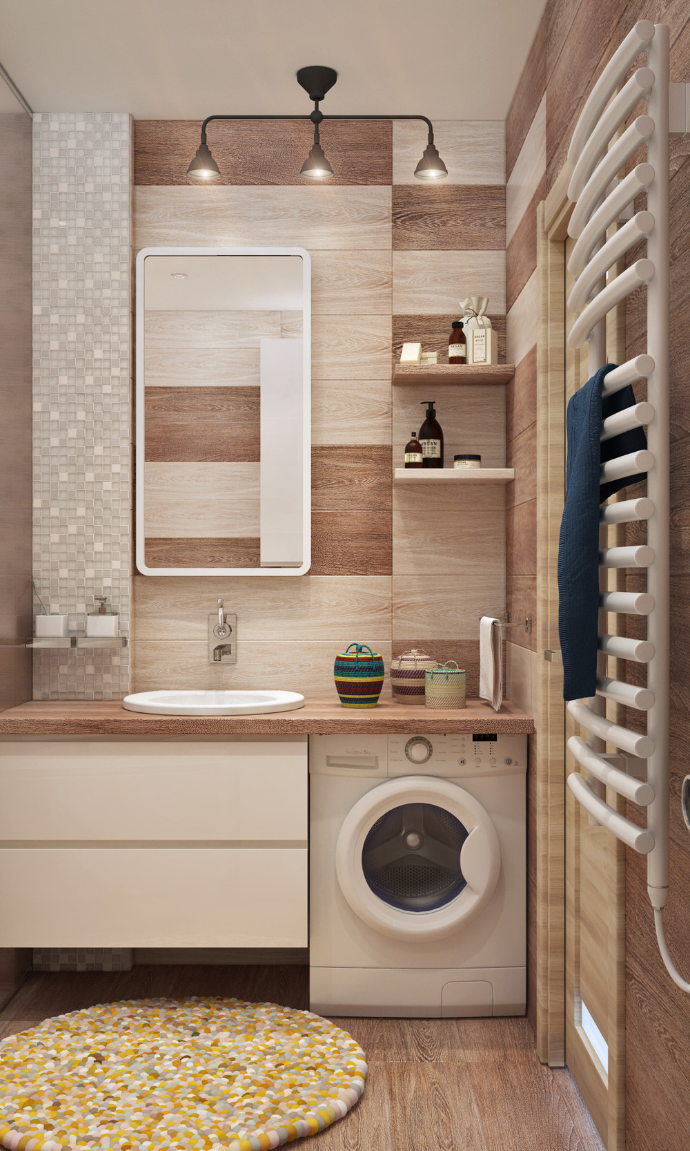 4 cute and stylish spaces under 50 square meters for Oversized baths
