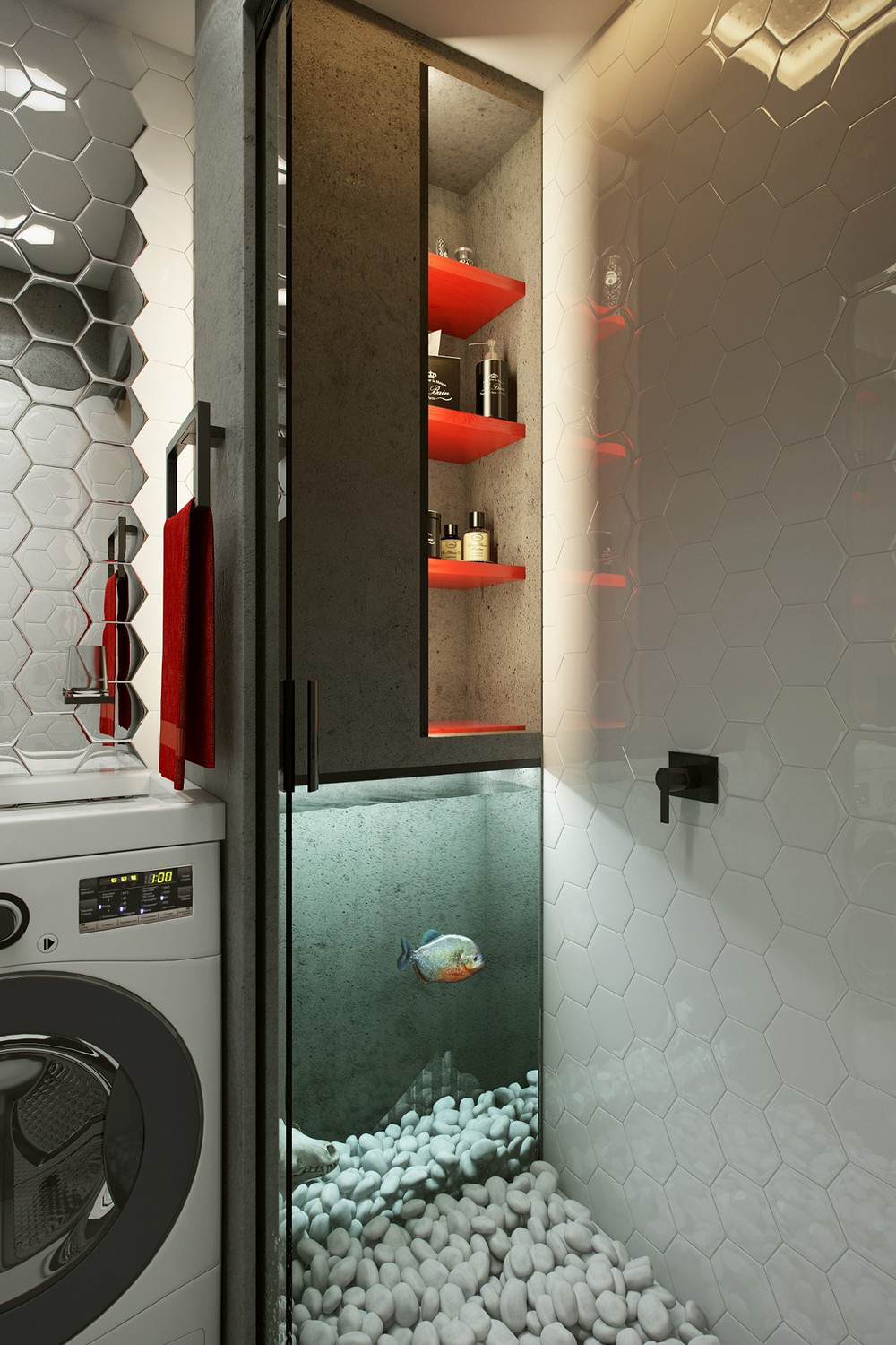 . laundry room aquarium   Interior Design Ideas