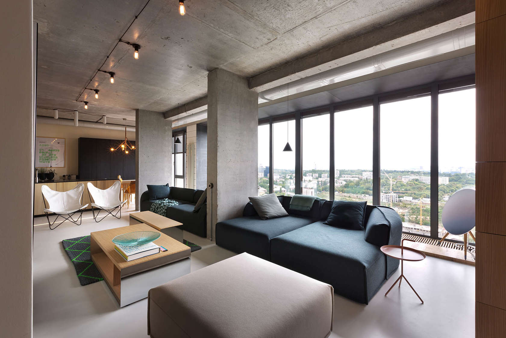 A smart penthouse in kiev is the perfect party pad for Modern style apartment