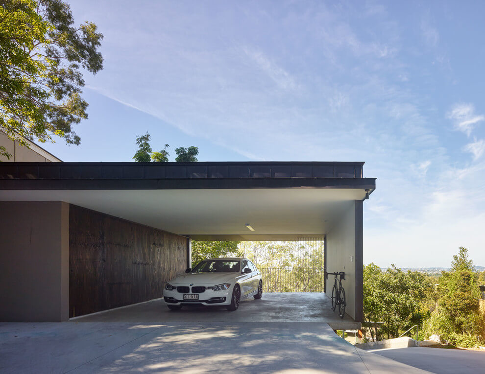 Modern Homes With Carport : Gorgeous use of wood takes this mansion to the next level