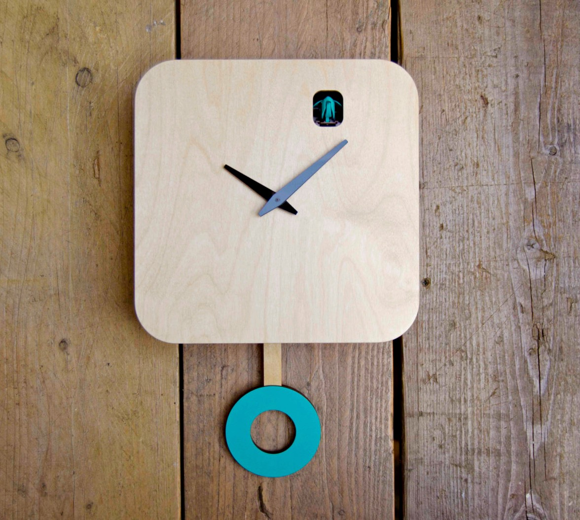 50 cool and unique wall clocks you can buy right now - Cuckoo pendulum wall clock ...