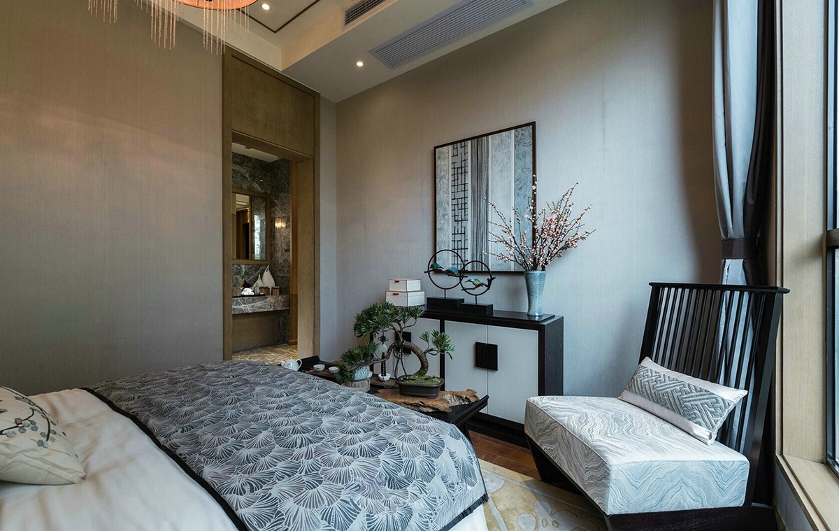 Neutral Bedroom - An opulent chinese mansion straight out of the 80s