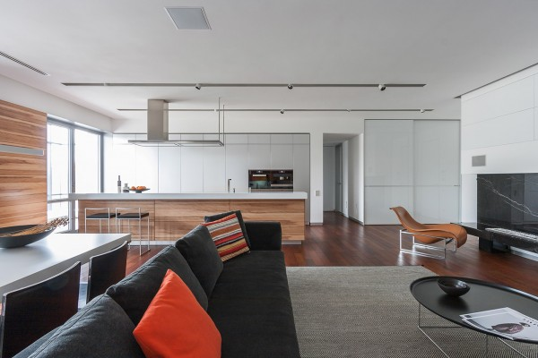 The Main Living Area Is A Large Open Space From Living Room To Kitchen. The