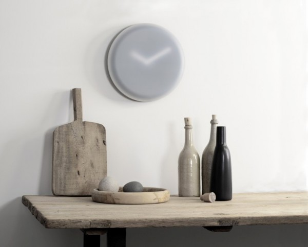 Designed by Ivan Kasner for LEFF, the Hazy clock has an opaque face that obscures the clock to create a dreamy feel.