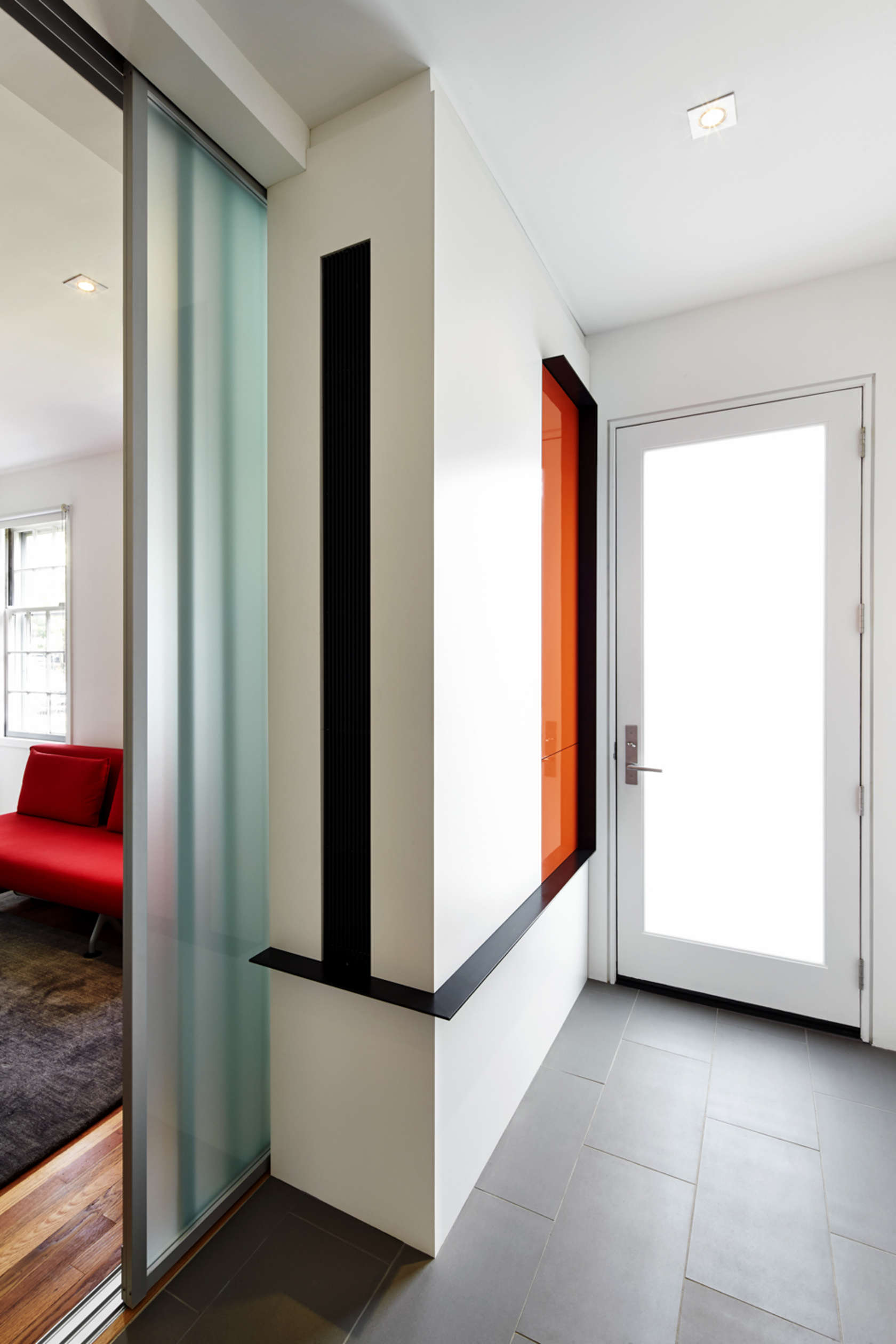 Pop Of Orange - A modern row house for a fun couple with a love of cooking