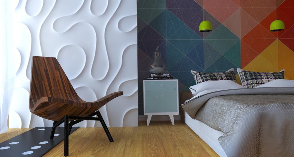 Textured Wall - 5 apartment designs under 500 square feet