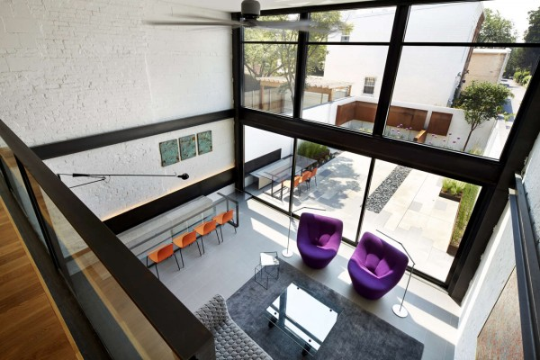 Vaulted Ceiling Living Room A Bright Modern Row House Redone For Fun