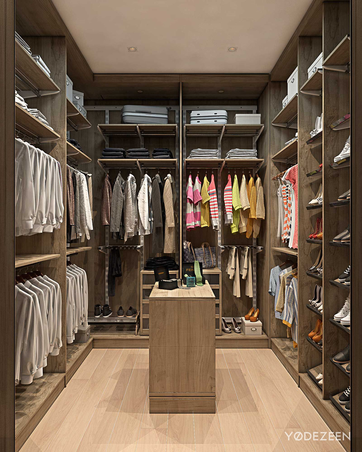Walk in closet interior design ideas for Villa de luxe moderne interieur