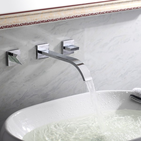Uniquely Beautiful Designer Faucets You Can Buy Right Now - Waterfall faucet for bathroom sink for bathroom decor ideas