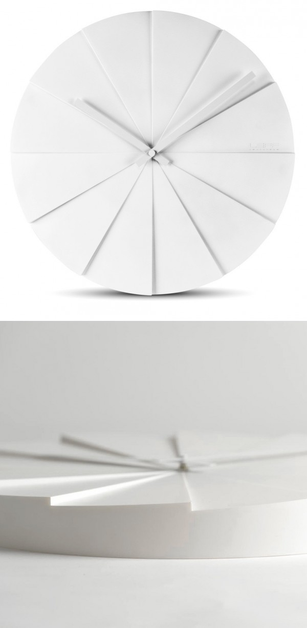The Scope45 Wall Clock uses a cool stairstep effect for its design.