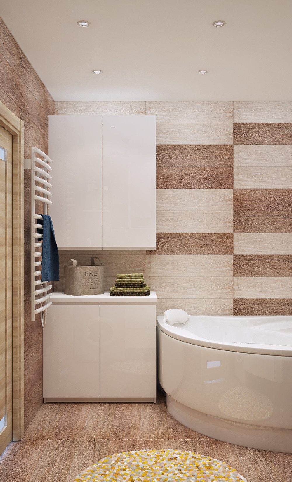 Wood tile bathroom interior design ideas Interior design ideas bathroom tiles