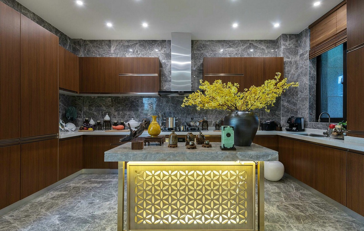Yellow Kitchen Accents - An opulent chinese mansion straight out of the 80s