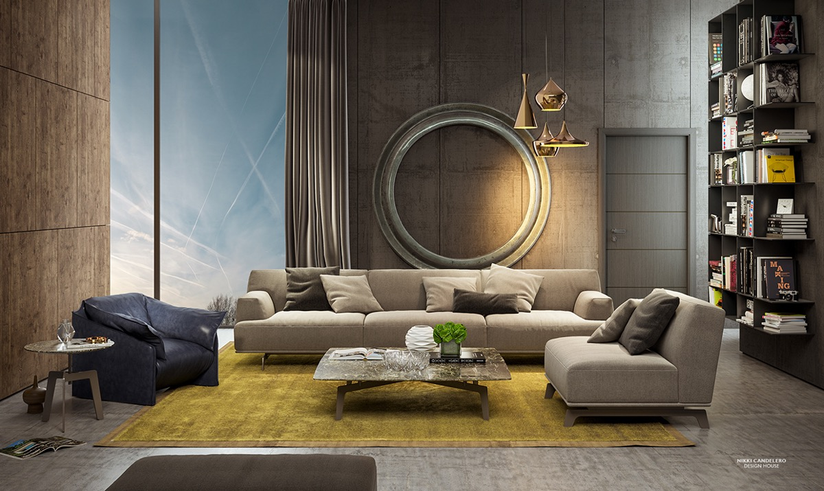 Modern Furniture Ideas Living Room wall texture designs for the living room: ideas & inspiration
