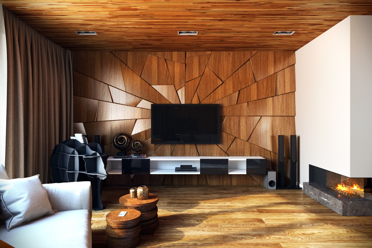 Wall Paneling Design interior wood paneling interior contemporary interior design studio apartment modern room with wood wall paneling design Wall Texture Designs For The Living Room Ideas Inspiration