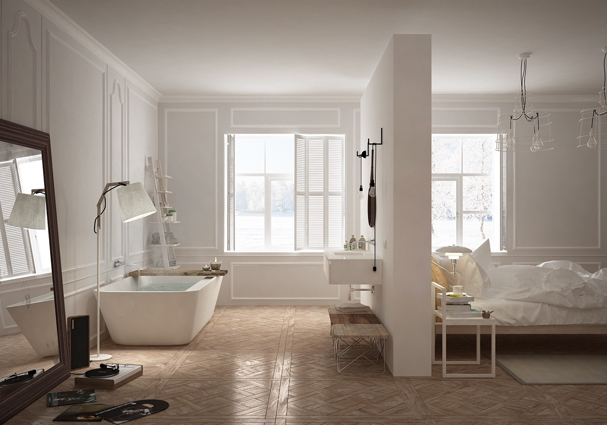 36 bathtub ideas with luxurious appeal for Bedroom with jacuzzi designs
