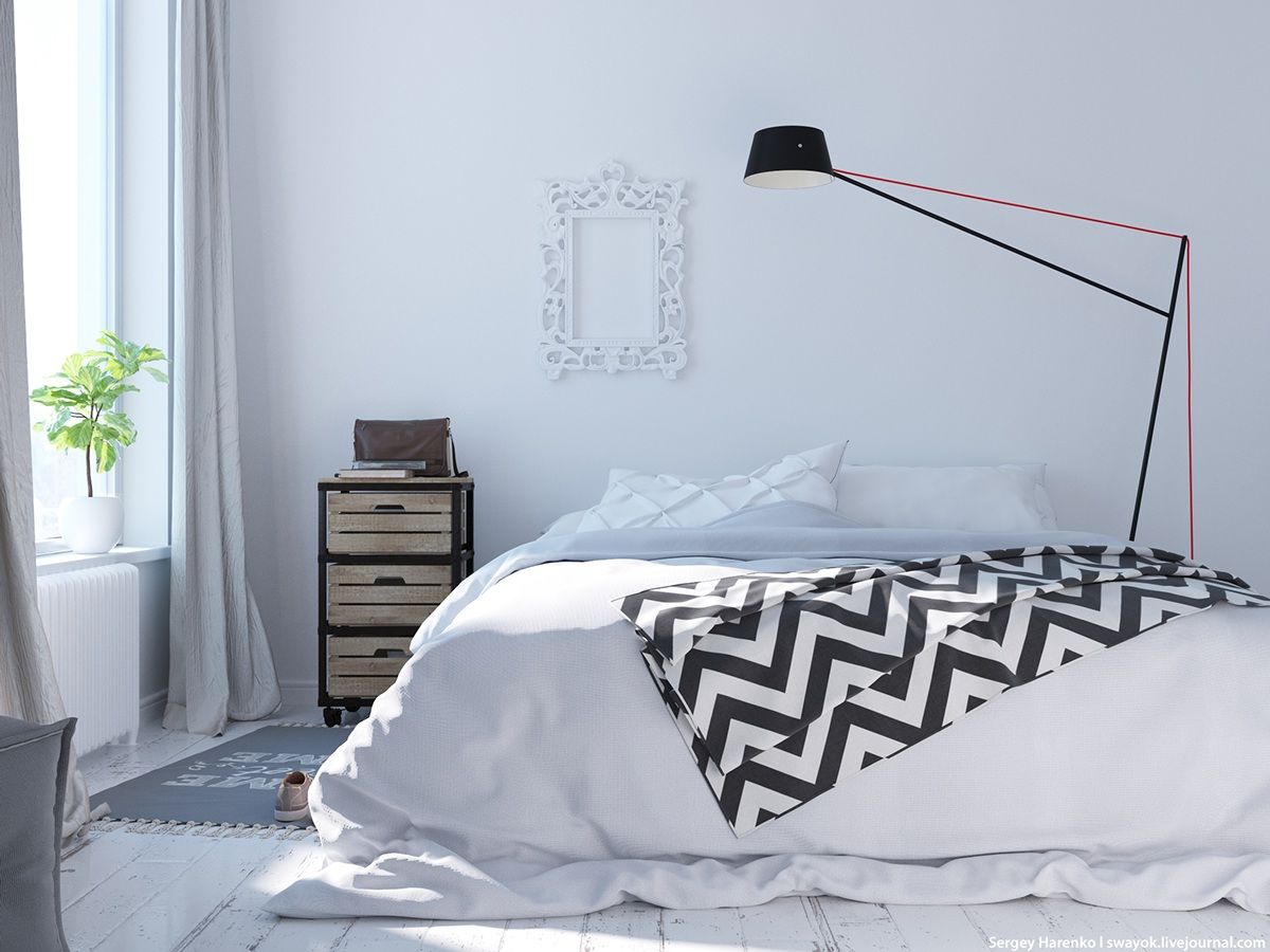 Bedroom Lamp Ideas - 3 beautiful scandinavian style interiors