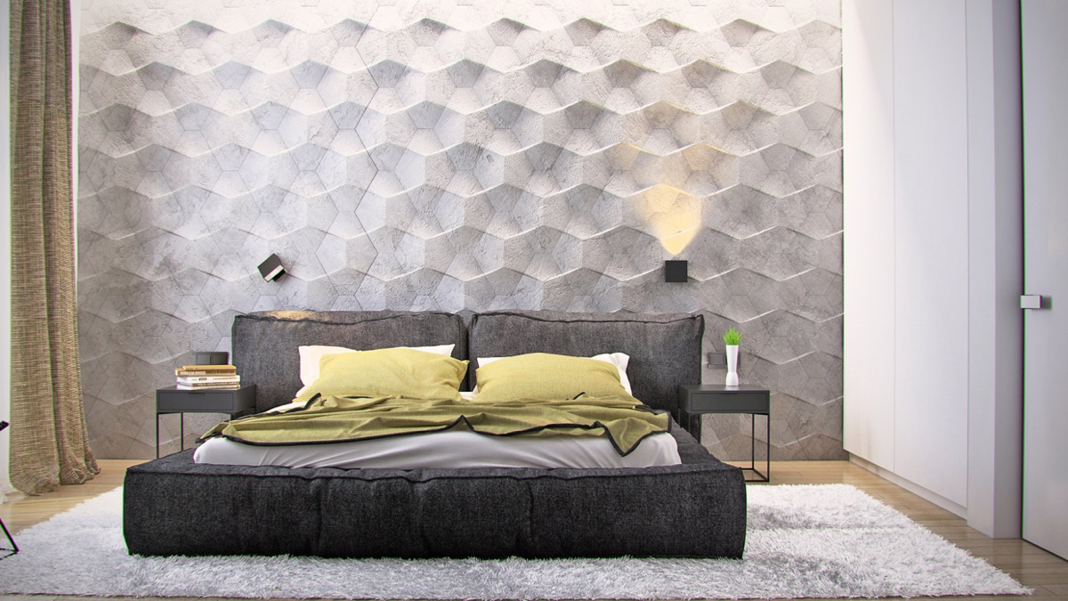 bedroom wall textures ideas inspiration - Decorating A Bedroom Wall