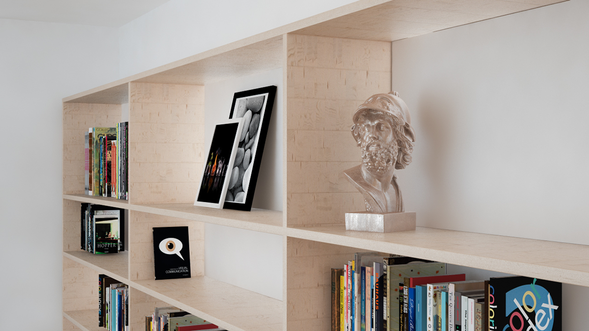 Birch Bookshelf - 3 beautiful scandinavian style interiors