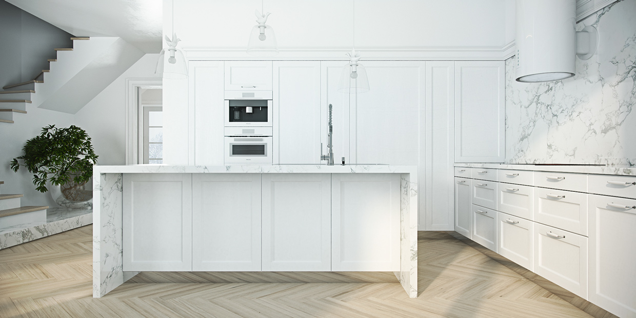 Chevron Wood Floors - 4 beautiful homes with a white theme