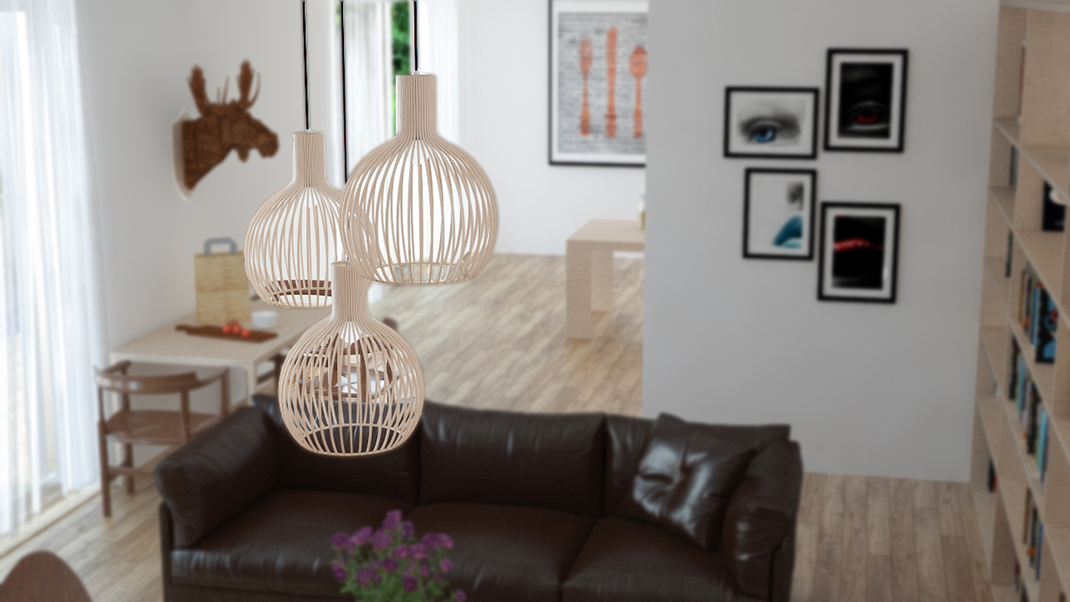 Cluster Light Fixtures - 3 beautiful scandinavian style interiors