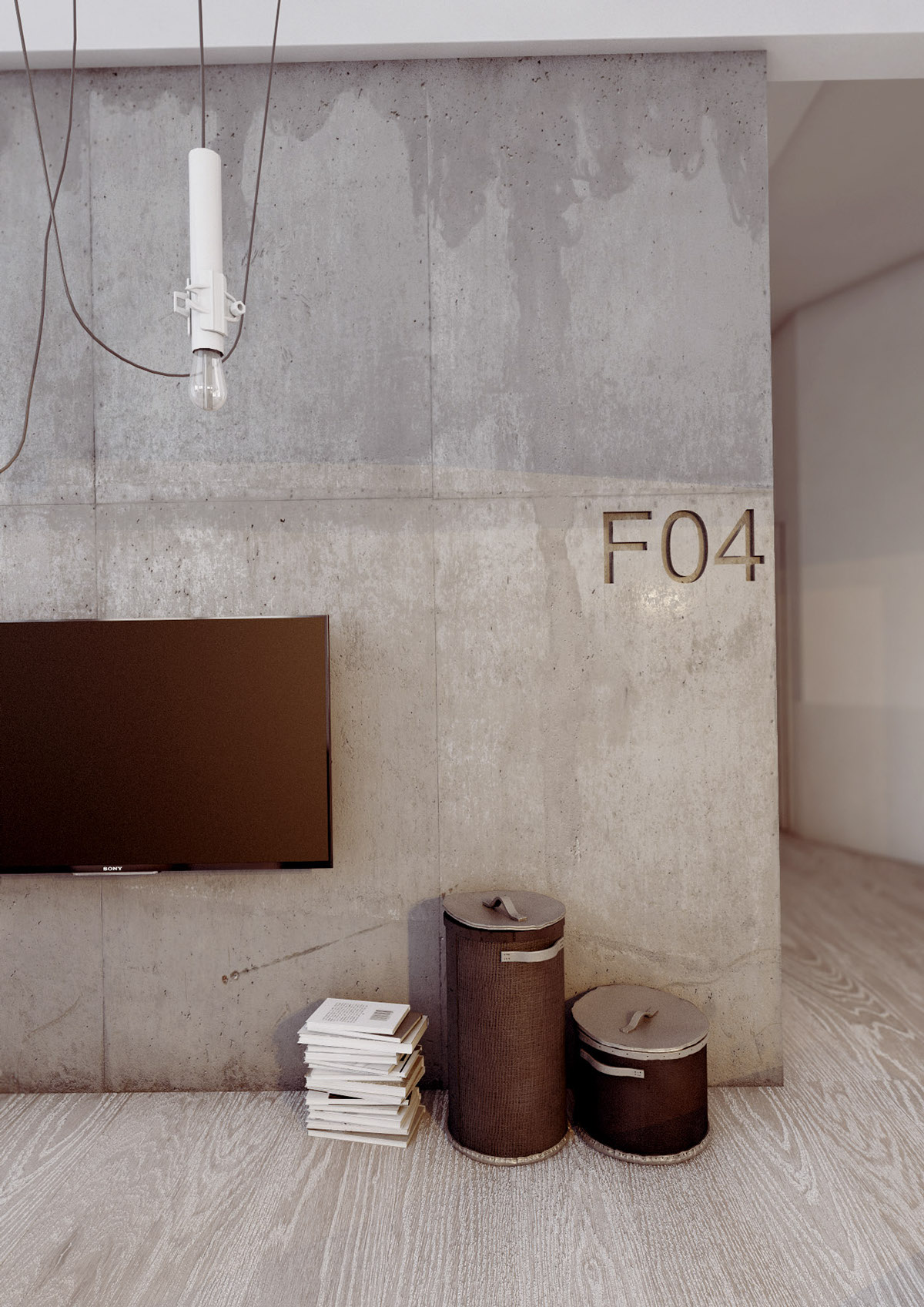 Cement Accent Wall : Homes using concrete as a stylish accent