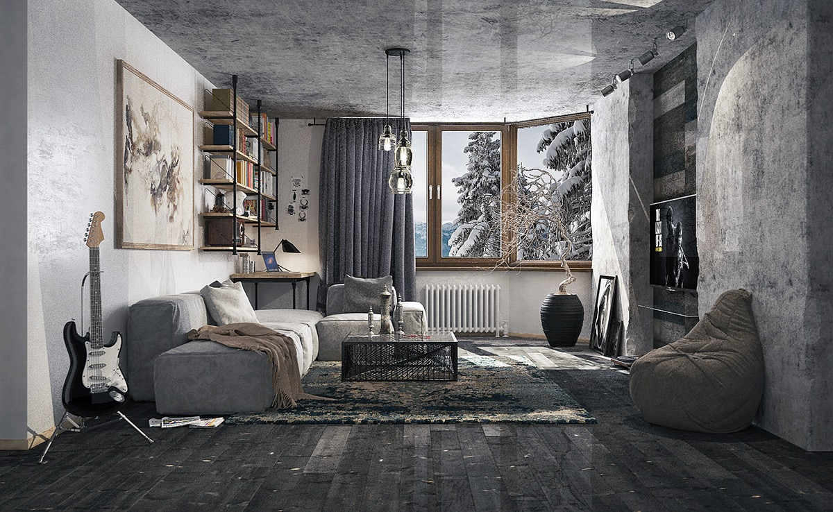 Creative Gray Living Room