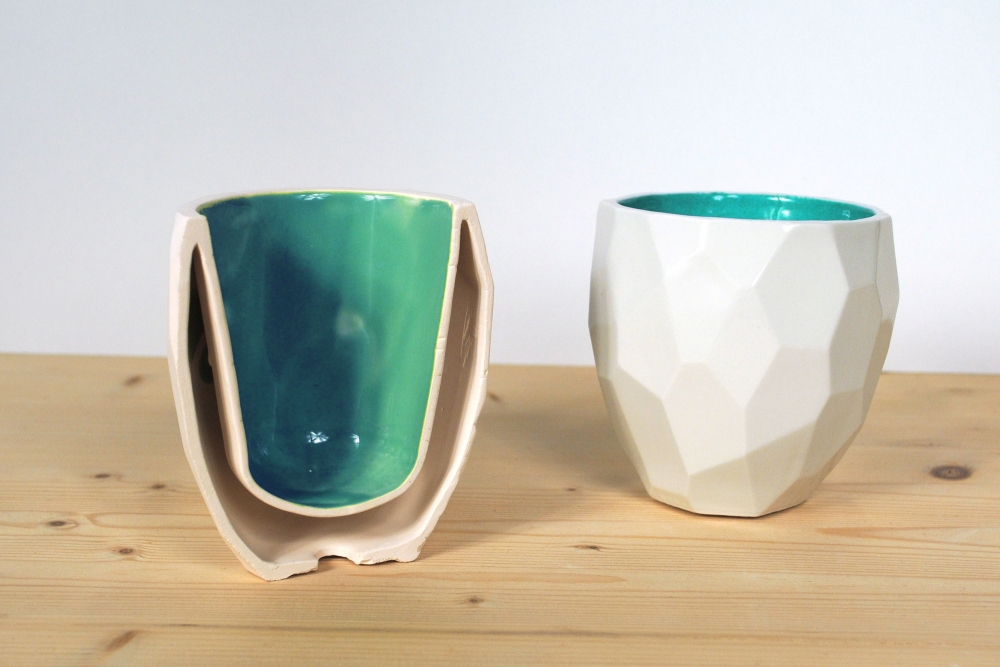 polygonal mug instead of a smooth design this porcelain mug is made