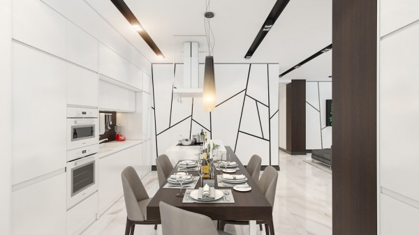 Good Creative Wall Treatment 4 Beautiful Homes With A White Theme Creative Wall  Treatment